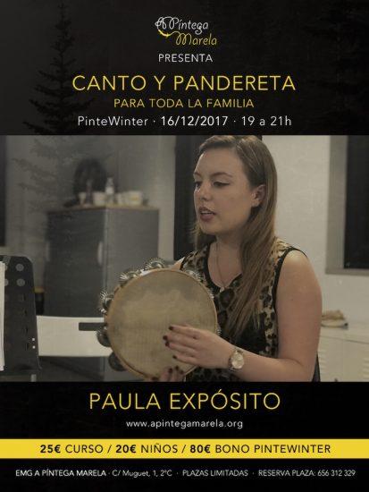 Curso de canto y pandereta Pintewinter 2017