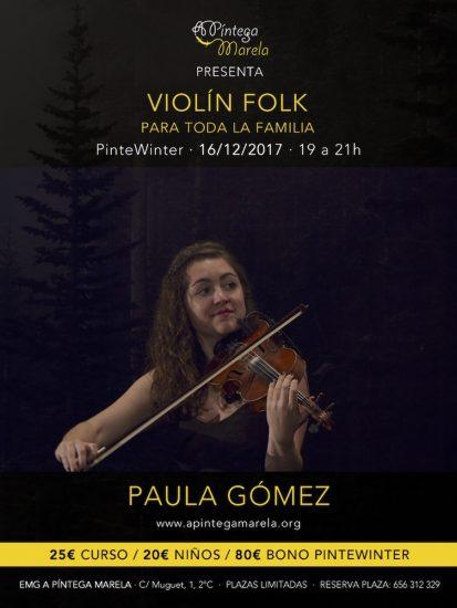 Cartel curso de violín Pintewinter 2017