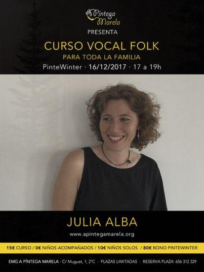 Cartel de vocal folk Pintewinter 2017